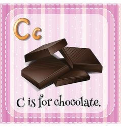 Flashcard letter C is for chocolate vector image