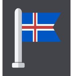 Flat modern flag on sample background vector