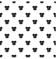 football shirt pattern seamless vector image