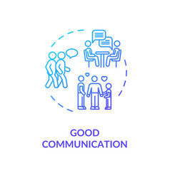 Good communication concept icon vector