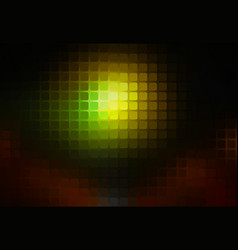 green brown yellow black abstract rounded mosaic vector image