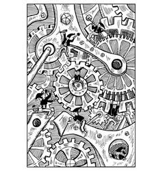 gremlins engraved fantasy vector image