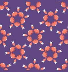 Hand drawn floral polka dot circles seamless vector