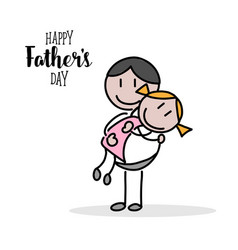 happy fathers day hand on white background vector image