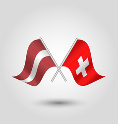 icon of latvia and switzerland vector image vector image