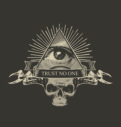 Icon of the masonic symbol all-seeing eye vector