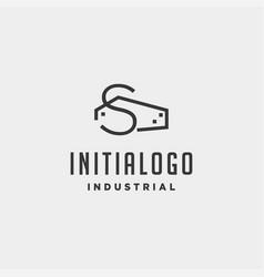 Initial letter s real estate logo design vector