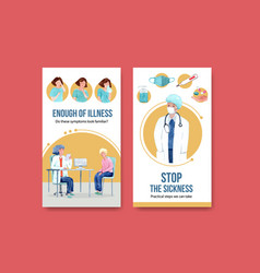 Instagram design illnesses concept with people vector
