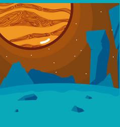 Jupiter planet seen from ground vector