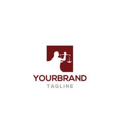 Law attorney logo design vector