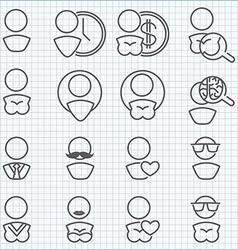Man and woman icons set vector image