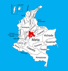 Map region cundinamarca colombia province vector