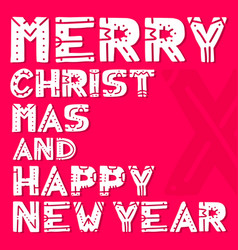 merry christmas and happy new year - lettering vector image