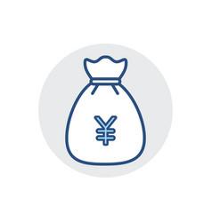 money bag icon bank cash finance fund tax icon vector image
