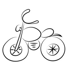 motorcycle drawing on white background vector image