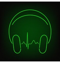 Music heartbeat vector