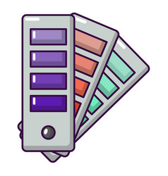 Palette guide icon cartoon style vector