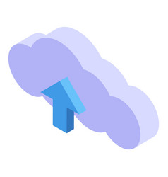 personal information data cloud icon isometric vector image