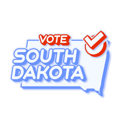 Presidential vote in south dakota usa 2020 state vector