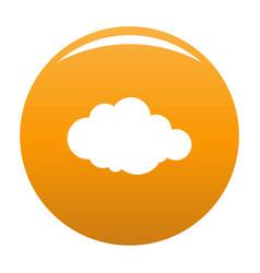 Rare cloud icon orange vector