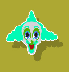 realistic paper sticker on theme humor cheerful vector image vector image