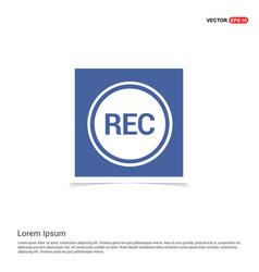 recording icon - blue photo frame vector image