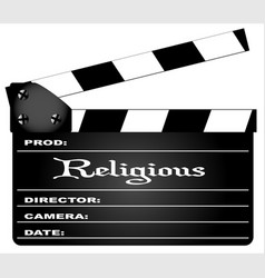 religious clapperboard vector image