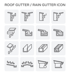 roof gutter icon vector image