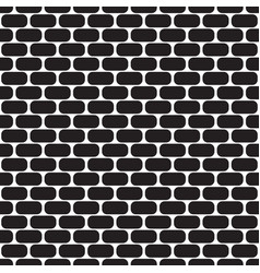 seamless pattern with ovals brick wall vector image