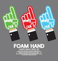 Set Of Foam Hand vector