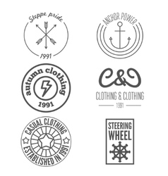 Set of logo and sticker emblem print label and vector image
