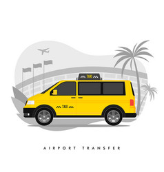 shuttle services flat cartoon transfer taxi vector image