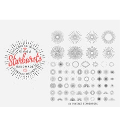 Sunburst design elements vector image