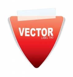 triangle paper tag vector image