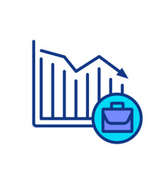 Unemployment rate rgb color icon vector