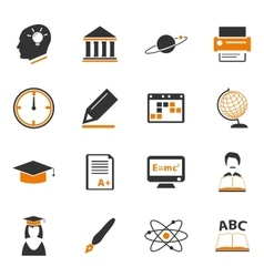 University icons set vector