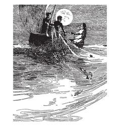 wynken blynken and nod vintage vector image