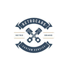 car auto service logo template design vector image vector image