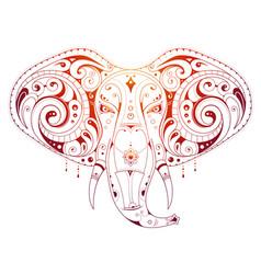 elephant head ornamental vector image