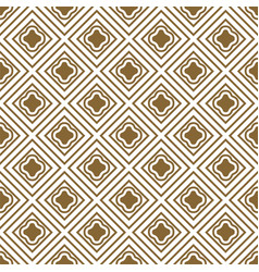 Gold and white rhombs seamless pattern vector