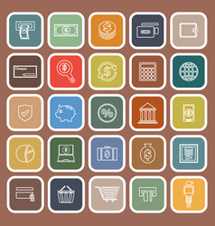 payment flat icons on brown background vector image