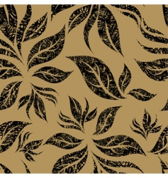 seamless beige floral pattern vector image