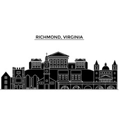 usa richmond virginia architecture city vector image