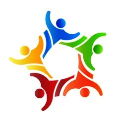 Winner Group people 4 Logo design element vector image
