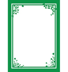 green floral corners background vector image vector image