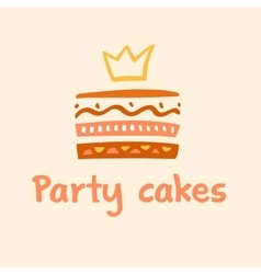 Party cakes logo logo confectionery coffee shop vector