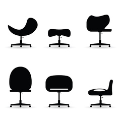 chair set black vector image