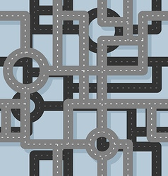 Road seamless pattern Map Highway background vector image vector image