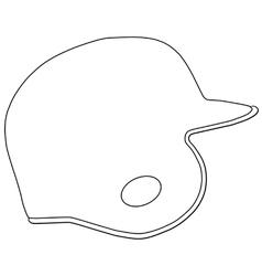 Baseball batting helmet vector image vector image