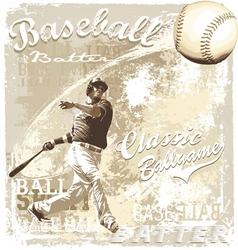 batting baseball vector image vector image